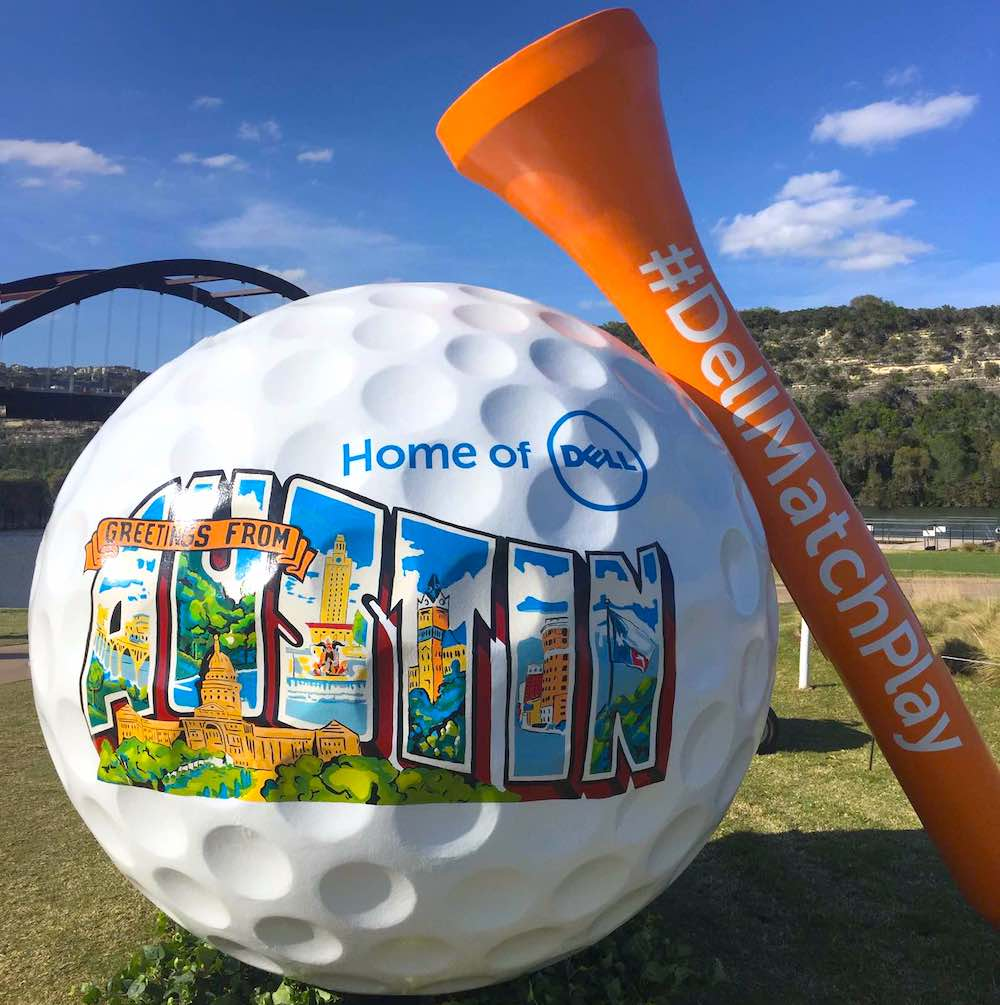 Dell Match Play Large Golf Ball and Tee using Architectural Foam