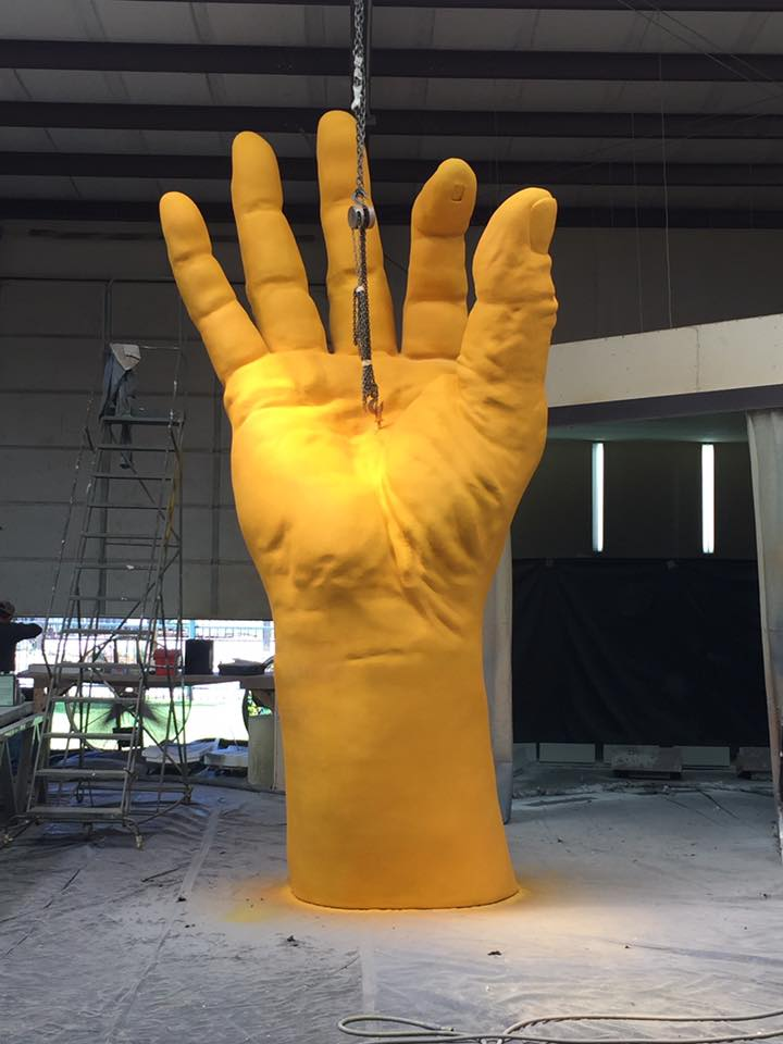Hand of the Land at BottleRock 2017 in Napa Valley using Architectural Foam