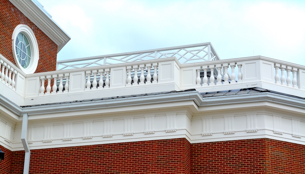 baluster rails on DBU Project using GFRC